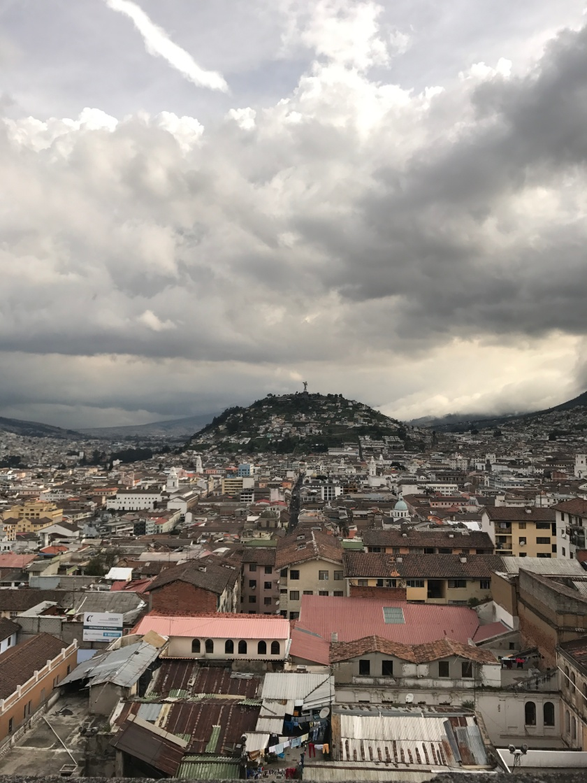 A view of Panecillo from the Basilica of the National Vow